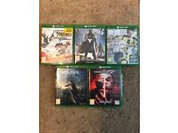 XBOX ONE + TWO CONTROLLERS + GAMES (inc TEKKEN 7)