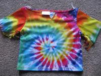 Build a Bear Minions Rainbow Tye dye Top- £2