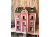 Large wood dolls house