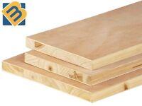 Blockboard - 18mm Block Board Sheets Hardwood Face Timber Blockboard Sheets
