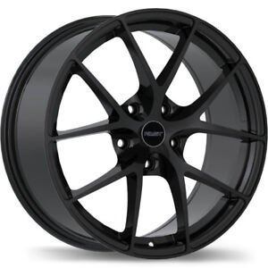 "18"" Wheel Set Audi A3 A4 A6 S4 Wheels Black Rim 18 5x112"