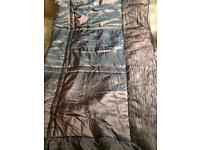 Shiny brown quilted bed throw