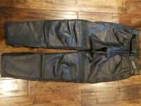 Gents leather bike trousers