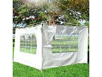 GAZEBO SIDE PANELS WITH WINDOWS. 2 X 3m LENGTH PANELS. NO FRAME INCLUDED!.