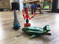 Thunderbird 1, 2 and 3 toys