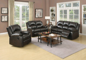*AMAZING VALUE AND COMFORT RECLINING SOFA AND LOVESEAT