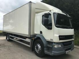 2013 13 DAF LF 55.220 Euro5 sleeper cab, 26ft box, tail-lift, manual