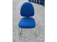 4 x Office/Visitor/Reception Chairs - Blue Fabric