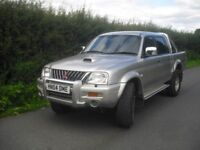 Mitsubishi L200 Warrior LWB pick up truck, long MOT only 74821 miles