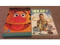 Children's DVDs Muppet Show & Ice Age