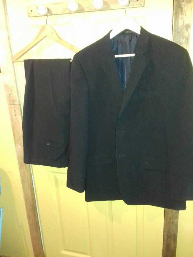 Florence &Fred Black Pinstripe Suit