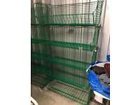 Large wire storage rack bins