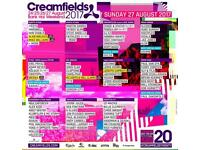 Creamfields Non Camping Ticket SATURDAY - HUGE LINEUP