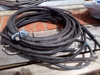 Armour steel wire reinforced heavy duty 3 core power cable, 3 different lengths total approx 6metres