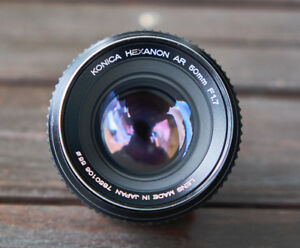 Konica Hexanon AR 50mm f/1.7 vintage camera lens