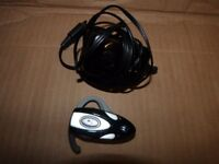 2 hands free headsets in perfect condition