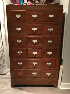 Antique library cabinets kijiji in ontario buy sell save library card cabinet antique library card cabinet antique file malvernweather Choice Image