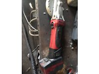 Snap on grinder cordless