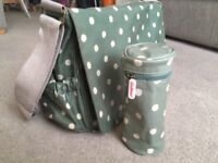 Cath Kidston changing bag with accessories