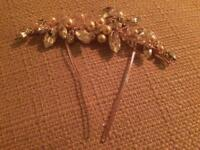 Bridal hair vine/pin