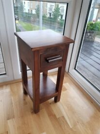 Dark Solid Wood Telephone Table, Small Unit