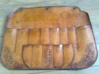 Old leather knife holder