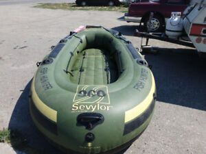 6 Person Heavy Duty Rubber Boat With Motor Mount