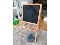 Child's chalk and white board