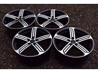 "18"" VW Golf R Cadiz Style Alloy Wheels Mk5 Mk6 MK7 Brand New Boxed Black Polished"