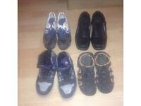 Boys sandles, vans and football boots