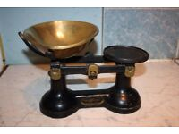 Vintage F J Thornton & Co Ltd 'The Viking' Black Cast Iron Weighing Scales