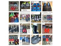 large bundle of shoes toddler 9 to adult 5.5 (inc new school shoes and plimsoles)