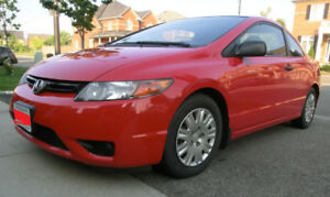 2008 RED Civic, selling CERTIFIED, Auto, Very CLEAN & Odor Free
