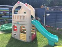 Little tikes playhouse & slide