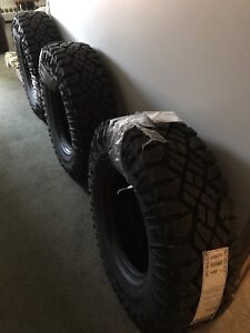 A set of good year duratrac tires (4 never used)