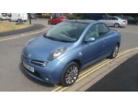 NISSAN MICRA (ESSENZA) CONVERTIBLE - 55-REG - 2005 (NEW SHAPE) 2 DOOR - 1.6 LITRE - £1495