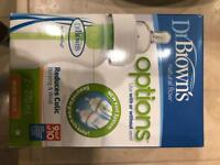 Brand new dr brown wide neck bottles , 2nd stage replacing tears set for free