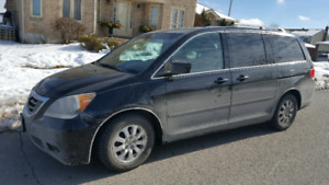 2008 HONDA ODYSSEY EXL LEARTHER SUNROOF POWER DOOR 128654 KM