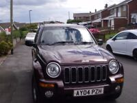 2004 Jeep Cherokee crd Limited good condition 10 months MOT full history.