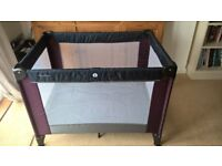 mamas and papas travel cot with quilt and blanket and toddler sleeping bag (grobag type)