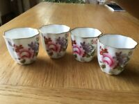 4 Royal Crown Derby egg cups