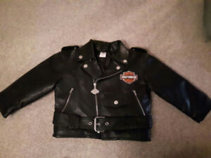 Harley real leather jacket kids size 4