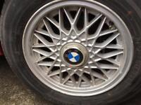 "5x original BMW E30 BBS alloy wheels 14"""