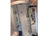 Shower Cabin with Monsoon Shower Head