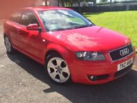 Audi A3 2.0 TDI 3 Door Red Automatic MOT, Cambelt + Recent Service + 2 Tyre's Lady Owner RARE SPEC