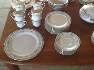Vintage set of kitchen dinner ware set