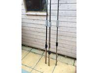 3 x Wychwood carp Rods