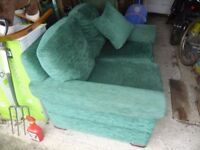 Two seat sofa in good condition free to person who collects. Clearing son's flat.