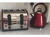 Russell Hobbs Legacy Red Retro Fastboil Kettle And Toaster