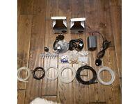 Air Pumps, 6 x Air Tubes, Air Valves, Non Return Valves, Air Filters JOB LOT